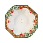 Fitz and Floyd Hand Painted Holiday Serving Bowl
