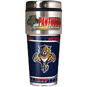 Florida Panthers Travel Tumbler w/ Metallic Graphics and Team Logo
