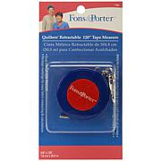 """Fons and Porter Quilters' Retractable 120"""" Tape Measure"""