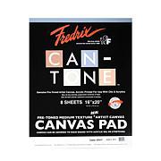 "FREDRIX Can-Tone Tara Gray Canvas 8-Sheet Pad 16"" x 20"""