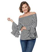 G by Giuliana Off-the-Shoulder Flounce Top