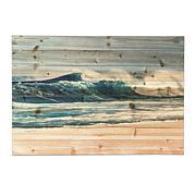 "Gallery 57 Waves Crashing 24"" x 36"" Print on Wood"