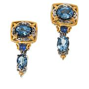 Gems by Michael Aquamarine and Sapphire Drop Earrings