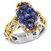 Gems by Michael Sterling Silver Cluster Ring