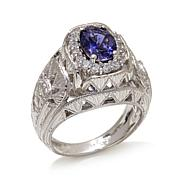 Generations® 1912 - 1.19ctw Iolite and Zircon Sterling Silver Ring