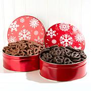 Giannios Milk and Dark Chocolate Mini Pretzels 2-pack