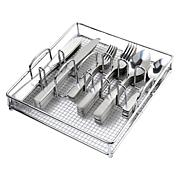 Gibson Home Abbeville 61-piece Flatware Set with Wire Caddy