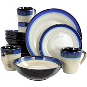 Gibson Home Couture Bands 16-piece Dinnerwear Set