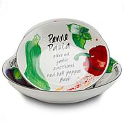 Gibson Home Fruity Tidings 5-piece Pasta Bowl Set