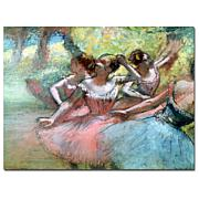"Giclee Print - Four Ballerinas on the Stage 24"" x 18"""