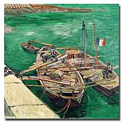 Vincent van Gogh Landing Stage with Boats Art Print