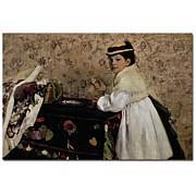 Edgar Degas Portrait of Miss Valpincon 1869 Art Print