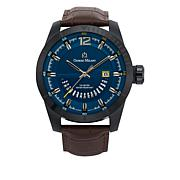 Giorgio Milano Blue Dial Brown Croco Leather Watch
