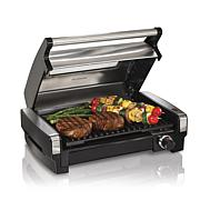Hamilton Beach Nonstick Searing Grill with Glass Lid