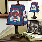 Handpainted Art Glass Team Lamp - Chicago Cubs - MLB
