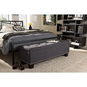 Hannah Fabric Upholstered Button-Tufting Storage Ottoman Bench