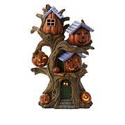 Harvest Lane Tabletop Tree with Pumpkins, LEDs and Timer