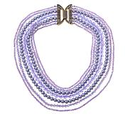 "Heidi Daus ""Bead It"" Crystal-Accented Multi-Row Necklace"