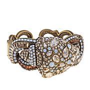 """Heidi Daus """"Encrusted Conch"""" Crystal Cuff Bracelet"""