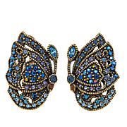 "Heidi Daus ""Jeweled Wings"" Crystal Earrings"