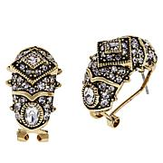 "Heidi Daus ""Old School Jewels"" Crystal Hoop Earrings"