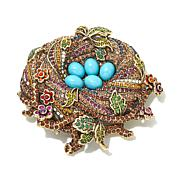 "Heidi Daus ""On a Lark"" Bird's Nest Crystal Pin"