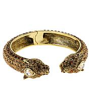 "Heidi Daus ""On the Prowl"" Crystal Hinged Cuff Bracelet"