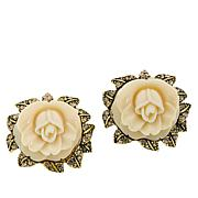 "Heidi Daus ""Premier Rose"" Crystal Button Stud Earrings"