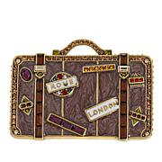 "Heidi Daus ""Well Traveled"" Enamel and Crystal Pin"