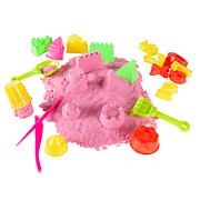Hey! Play! Moldable Kinetic Sand Activity Set with 35 Toys and Tools