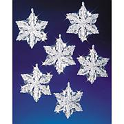 Holiday Beaded Ornament Kit - Snow Crystals