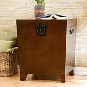 Home Espresso Pyramid Trunk End Table