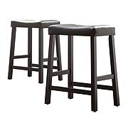 "Home Origin Set of 2 Saddle 24"" Barstools"