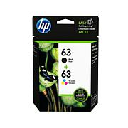 HP 63 Black and Color Ink Cartridges Combo Pack
