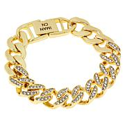 IMAN Global Chic Goldtone Crystal Curb-Link Bracelet