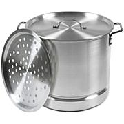 Imusa Mexicana-24 12-Qt. Tamale and Seafood Steamer, Silver
