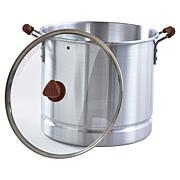 IMUSA MEXICANA 310 10-Qt. Steamer with Glass Lid and Wood-Look Handles