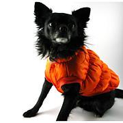 Isabella Cane Doggy Puffer Jacket Orange - Size 18