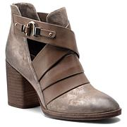 """Isola """"Ladora"""" Stacked Heel Leather Bootie"""