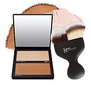 IT Cosmetics Hello Cheekbones Contouring Palette with Brush