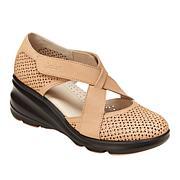 Jambu Originals Belize Perforated Suede Wedge Shoe