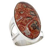 Jay King Sterling Silver Leopard Skin Stone Oval Ring