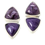 Jay King Sterling Silver Purple Charoite 2-Stone Earrings