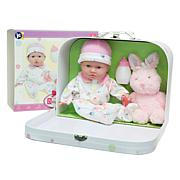 """JC Toys La Baby 11"""" Soft Body Baby Doll Travel Case Gift Set"""