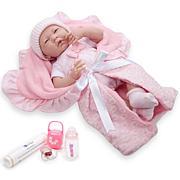 "JC Toys La Newborn Nursery 15.5"" Soft Body Baby Doll 8pc Gift Set"
