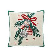 Jeffrey Banks Ornament Hand-Hooked Wool Pillow
