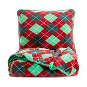 Jeffrey Banks Plush Throw and Pillow