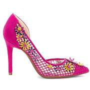 Jessica Simpson Leighah Mesh and Floral Pointed Toe Pump