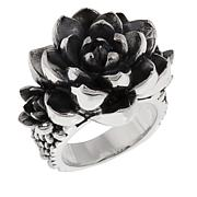 King Baby Sterling Silver Cluster Rose Ring