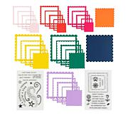 Kingston Crafts Essentials Square Stamps and Chipboard Frames
